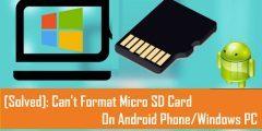 حل مشكلة تهيئة بطاقة الذاكرة