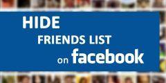 كيف اقوم باخفاء الأصدقاء على الفيسبوك