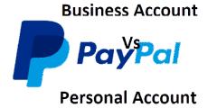 الفرق بين الحساب الشخصي والتجاري في باي بال