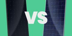 الفرق بين ألواح الطاقة الشمسية الزرقاء والسوداء